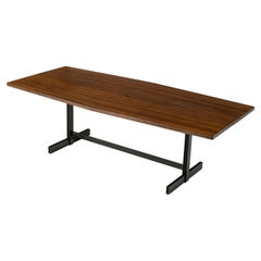 Jules Wabbes 'Tonneau' Dining Table in Solid Wenge