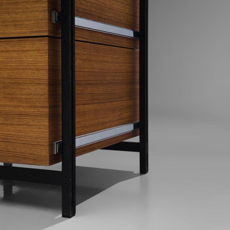 Steel Jules Wabbes Versatile Free-Standing Corner Desk For Sale