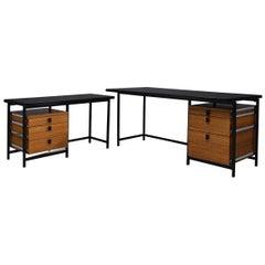 Jules Wabbes Versatile Free-Standing Corner Desk