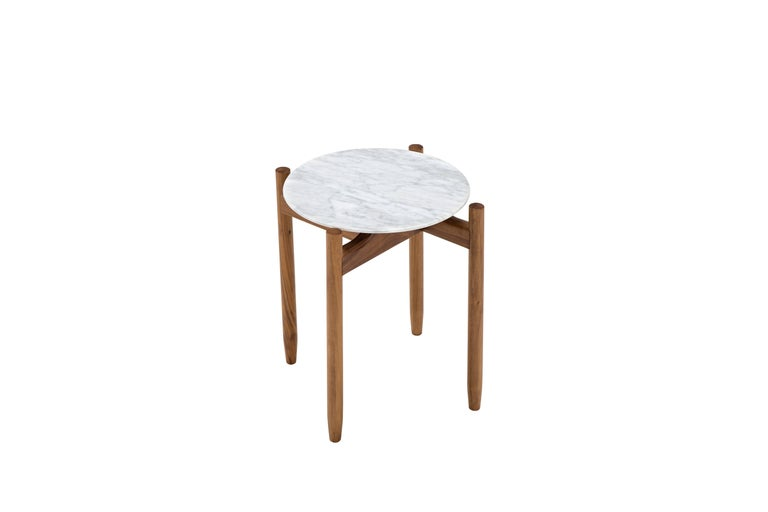 Modern Juli Round Side Table by Maurizio Marconato & Terry Zappa For Sale