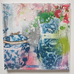 Julia Adams, Chinese Vases, Original Interior Painting, Contemporary Art