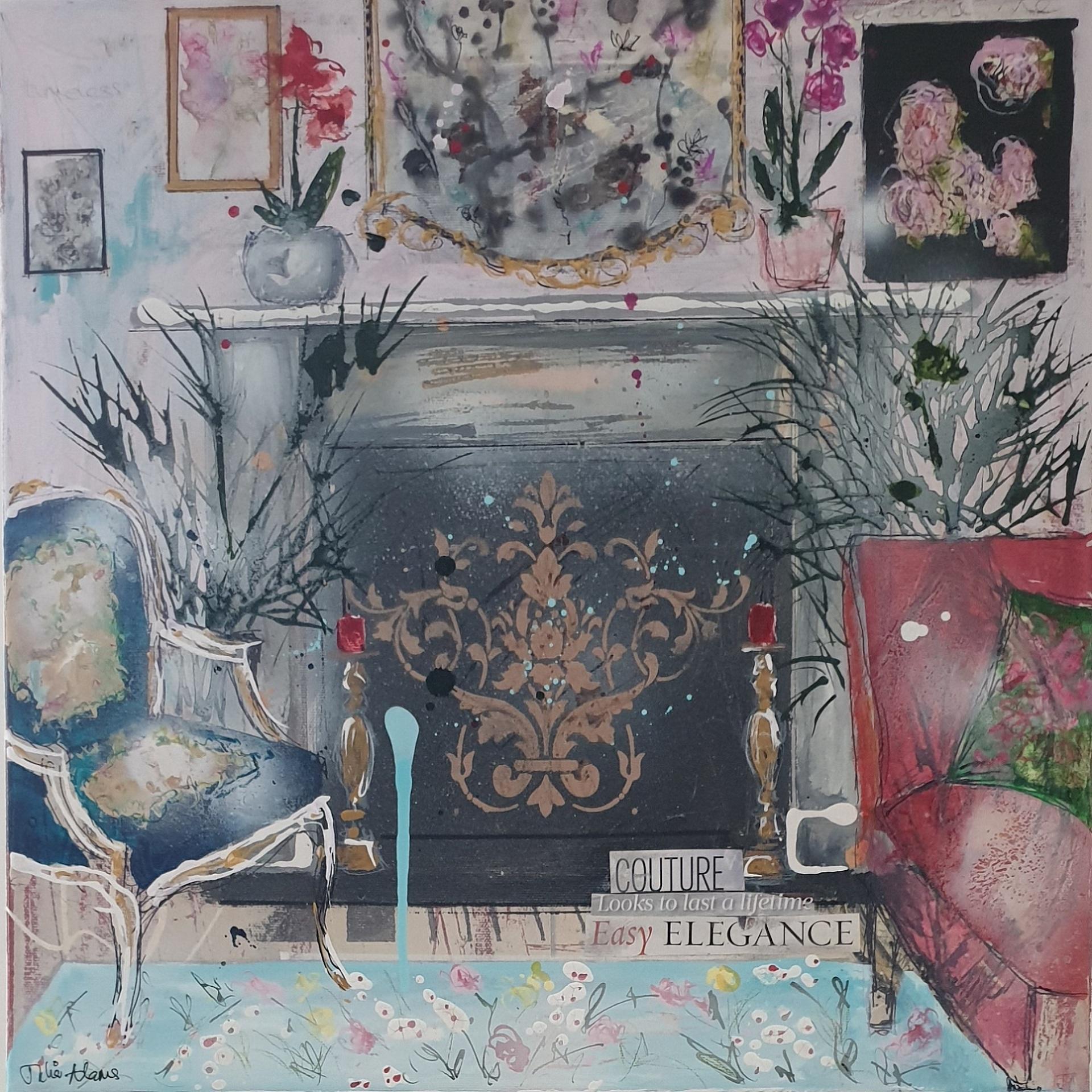 Julia Adams, Easy Elegance, Original Interior Painting, Affordable Art