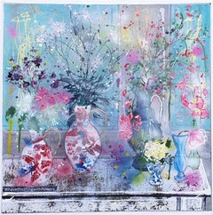 #ihavethisthingwithflowers by Julia Adams is a contemporary mixed media Art
