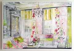 Julia Adams, Refined Luxury, Original Interior Painting, Contemporary Art