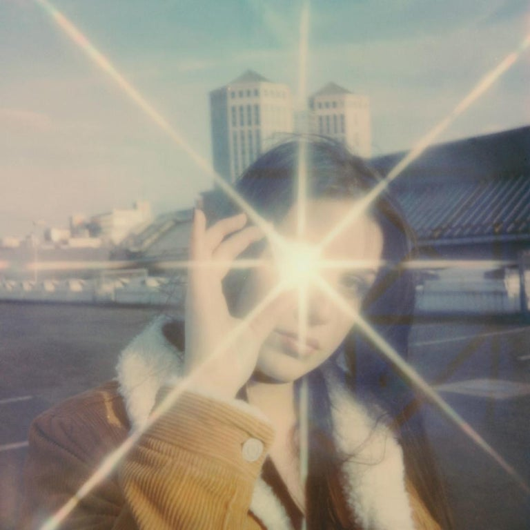 Julia Beyer Landscape Photograph - Bitchin' - Contemporary, Figurative, Woman, Polaroid, Photograph