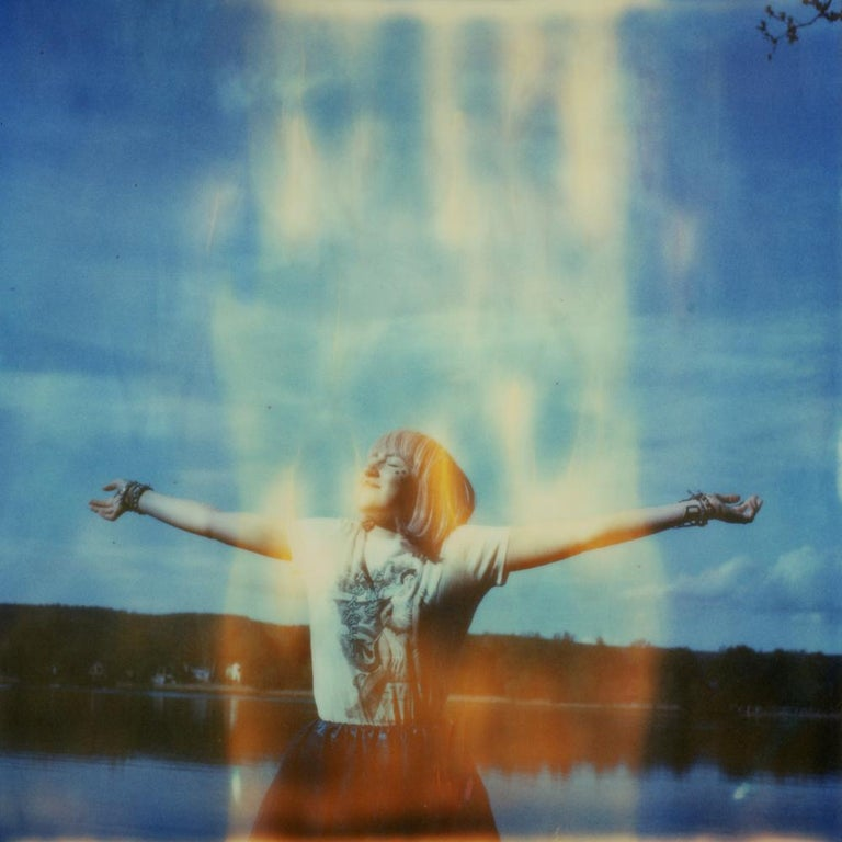 Julia Beyer Color Photograph - Conjure - Contemporary, Figurative, Woman, Expired, Polaroid, Photograph,
