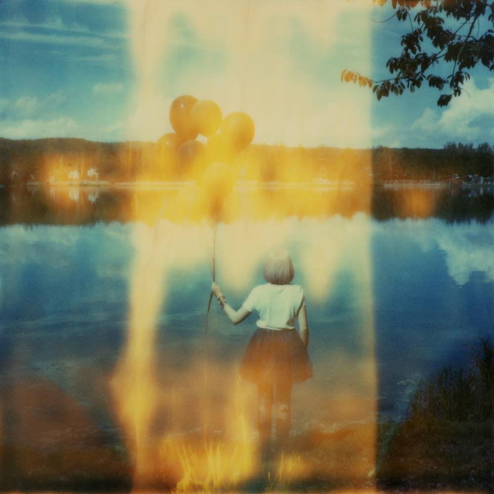 Figurative, Contemporary, Landscape, Polaroid, Photograph, Expired, 21st Century