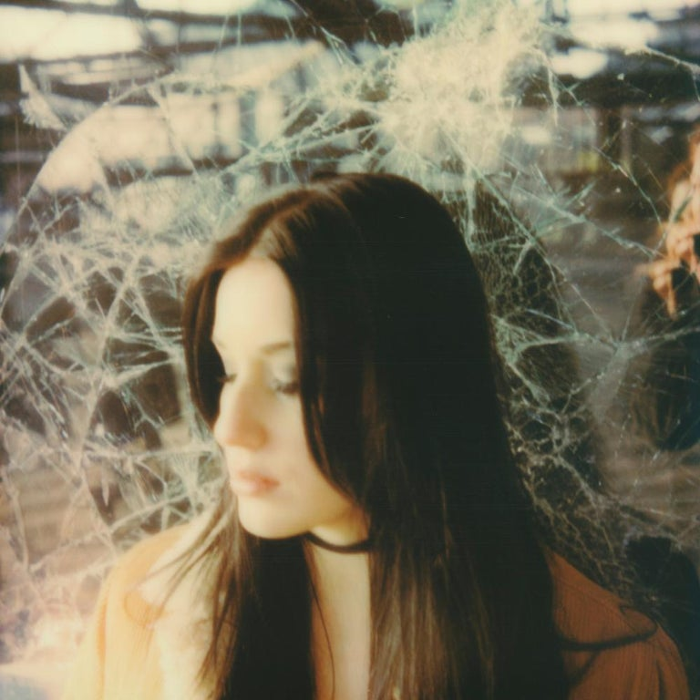 Julia Beyer Color Photograph - Halfway Happy - Contemporary, Figurative, Woman, Polaroid, Photograph