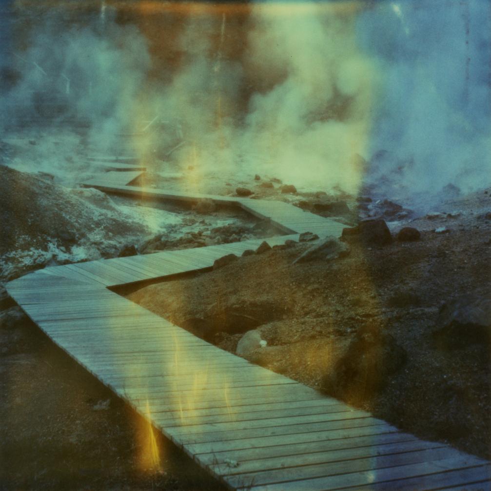 Leiðin - Contemporary, Landscape, Polaroid, Photograph, 21st Century,