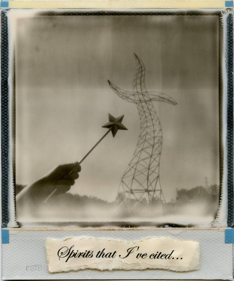 The Sorcerers Apprentice - Polaroid, Black and White, 21st Century, Contemporary - Mixed Media Art by Julia Beyer