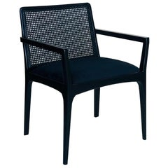 """Julia"" Chair with Wooden Arms in Ebony"