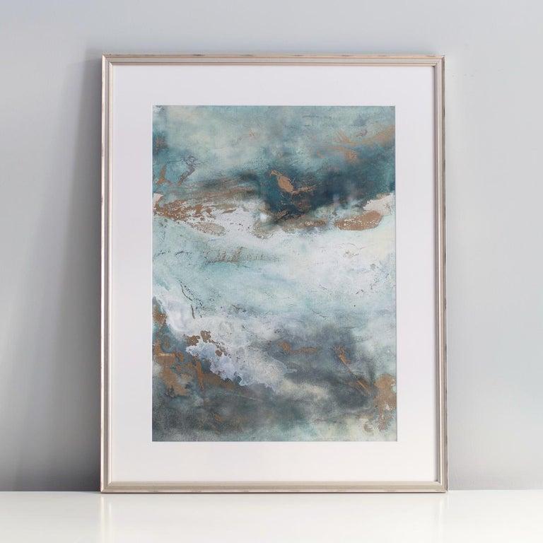 'Luminous Smoke No. 2' - Abstract Mixed Media Art by Julia Contacessi