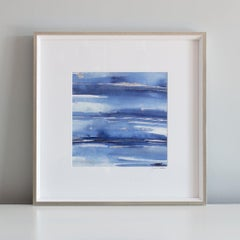 """""""Water Essence No. 2"""", Contemporary Abstract Minimalist Mixed-Media"""