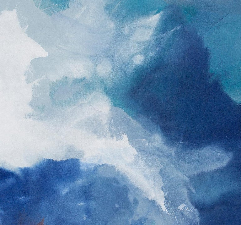 Coral Sea - Blue Abstract Painting by Julia Contacessi