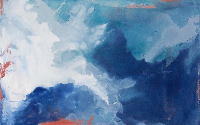 """Coral Sea,"" Abstract Painting - Mixed Media Art by Julia Contacessi"