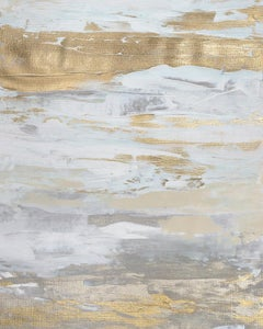 'Malibu Gold No. 2', Contemporary Abstract Minimalist Mixed-Media Painting