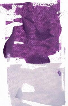 'Plumb Happy No. 1', Contemporary Abstract Minimalist Mixed-Media Painting