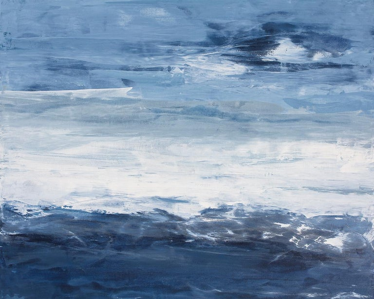 """Julia Contacessi Abstract Painting - """"Second Sight,"""" Abstract Coastal Painting"""