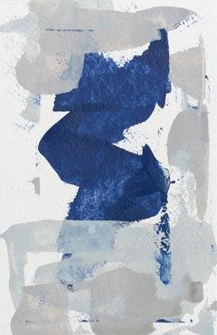 'Water Haze No. 2', Contemporary Abstract Minimalist Mixed-Media Painting