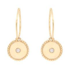 Julia-Didon Cayre 18 Karat Yellow Gold Charm Diamond Earrings