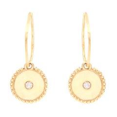 Julia-Didon Cayre 18 Karat Yellow Gold Diamond Earrings with Charm