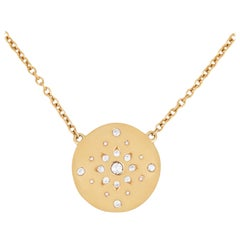 Julia-Didon Cayre Diamond Necklace in 18 Karat Yellow Gold