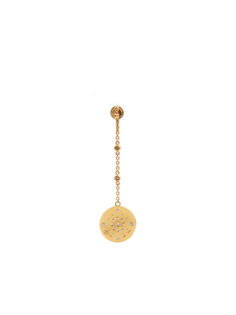 Contemporary Julia-Didon Cayre Sapphire, Citrine and Diamond Earrings in 18 Karat Yellow Gold For Sale