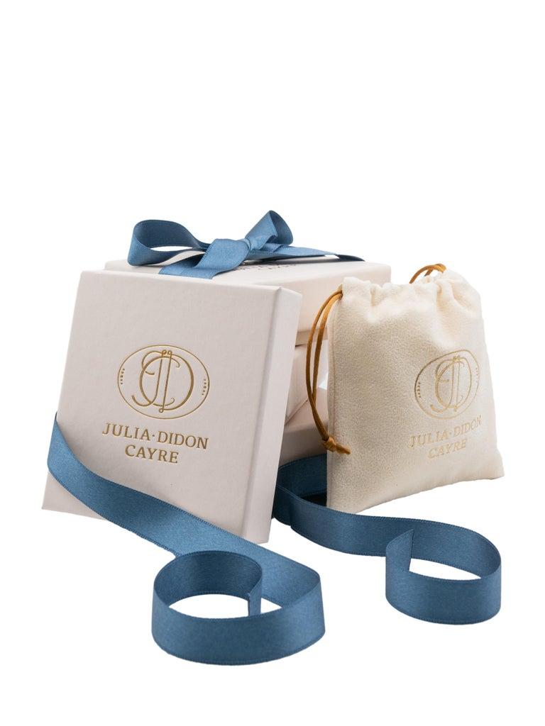 Women's Julia-Didon Cayre Sapphire, Citrine and Diamond Earrings in 18 Karat Yellow Gold For Sale
