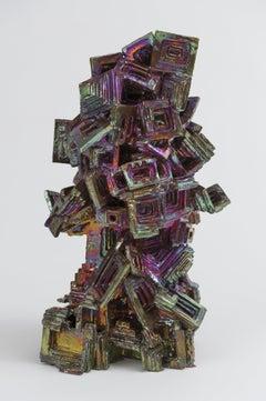 Julia Kunin, Bismuth Head, Ceramic Sculpture, 2013