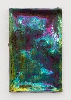 Julia Kunin, Mirror I (Green Purple), Ceramic Sculpture, 2015