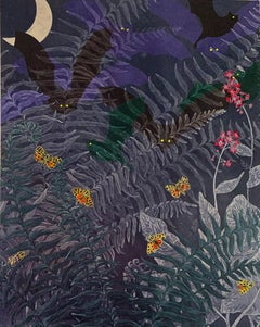Ornate Tiger Moths and Bats