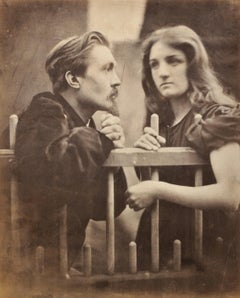 Mary Ryan with Young Man at Fence, 19th Century Victorian Pictorialist Portrait