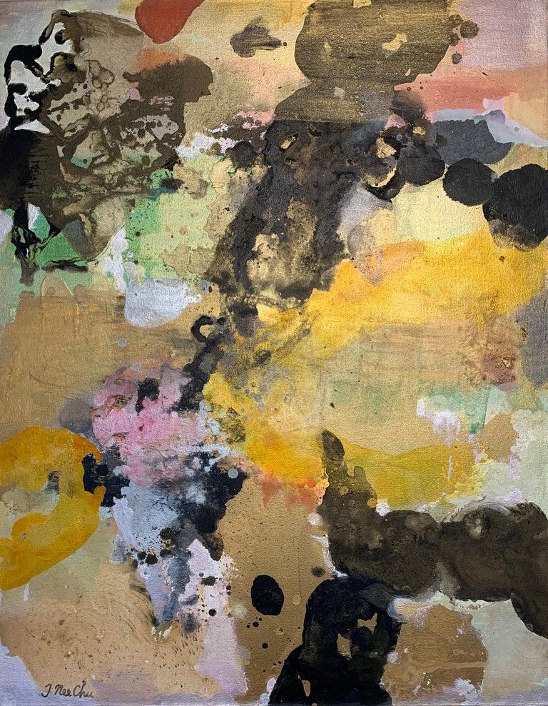 Julia Nee Chu Abstract Painting - Orange Float