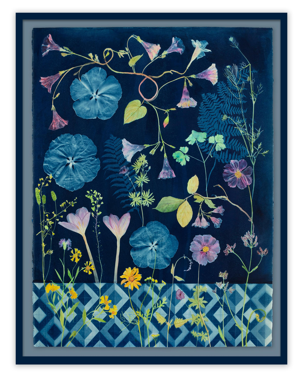 Cyanotype Painting (Morning Glory, Crocus, Floor Pattern, etc)