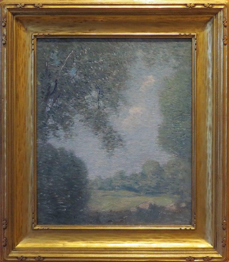 "Julian Alden Weir Landscape Painting - ""Overhanging  Tree"""
