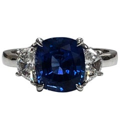 Julian B Designs Sapphire and Diamond 14 Karat White Gold Ring