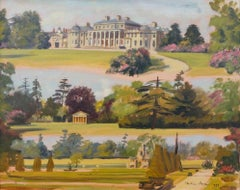 Views of Shugborough Park & Estate Signed Oil Painting on Canvas