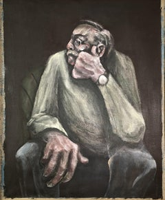 """""""Seated Man""""  Figurative Oil Painting"""