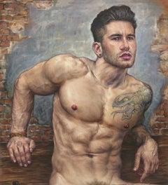 Male Nude- Sitting #1