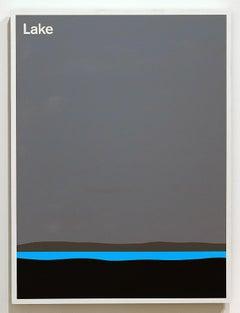 Original Contemporary painting Julian Montague 2015 Modernist Minimalist Yellow