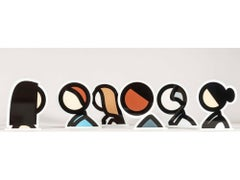 Head Series -- Set of six, Statuettes, Multiples, Portraits, by Julian Opie