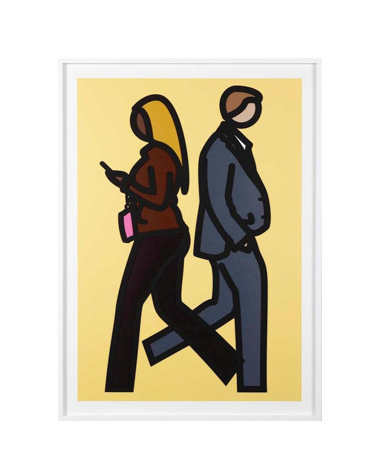 Julian Opie Figurative Print - NEW YORK COUPLE 5