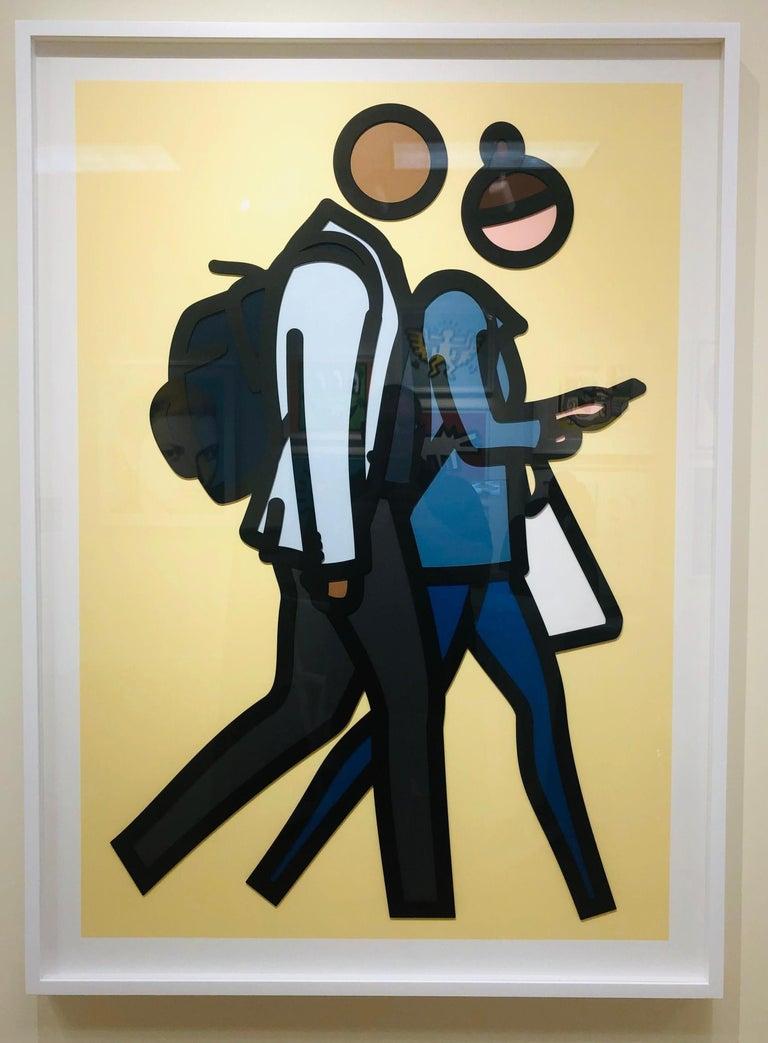 Julian Opie Figurative Print - New York couples 1