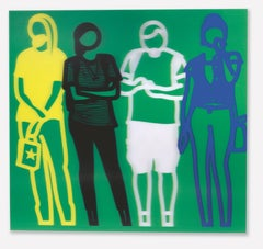Standing People (Yellow,Black,White, Blue)