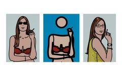 Twenty-Six Portraits -- Portfolio, Set, Prints, Figures, Pop Art by Julian Opie