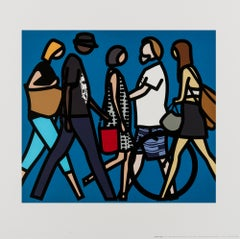 Walking in Melbourne 1 -- Digital Print, Human Figures, Pop Art by Julian Opie