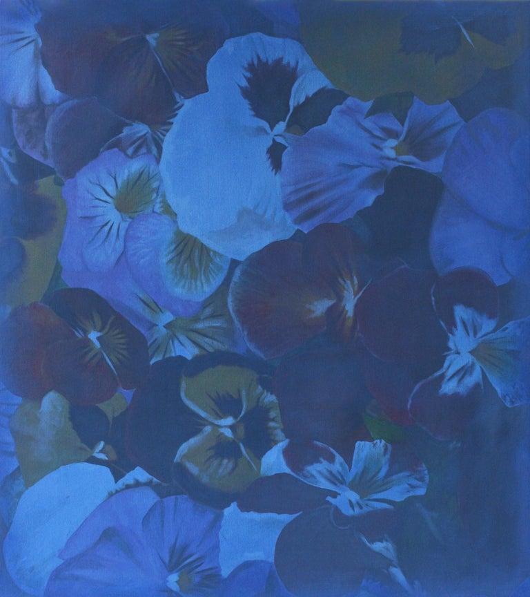 Julian Rogers Still-Life Painting - Blue Flowers