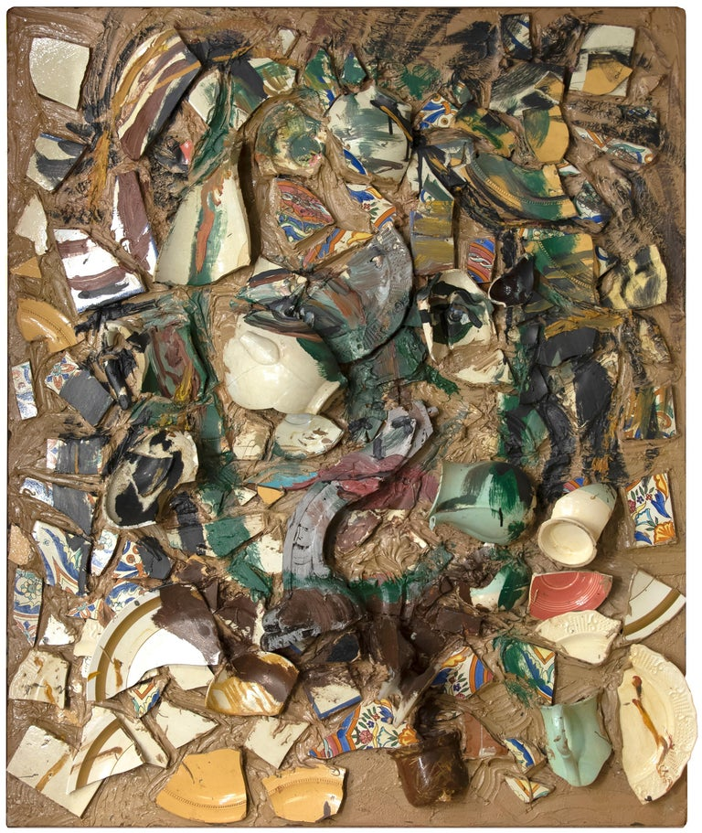 Julian Schnabel Abstract Painting - Pascin Pig Passin Time