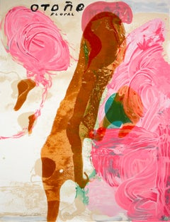 Julian Schnabel, Sexual Spring-Like Winter-Otono, hand painted silkscreen, 1995