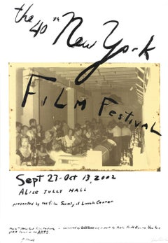 "Julian Schnabel-The 40th New York Film Festival-52"" x 36""-Mixed Media-2002"